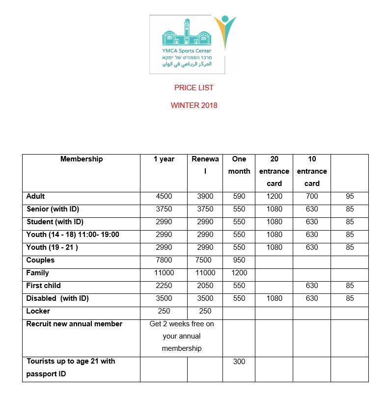 Swimming Pool Gym In Jerusalem Price List